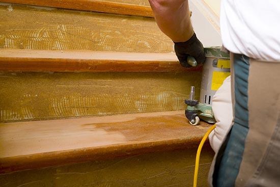 Treppe abschleifen